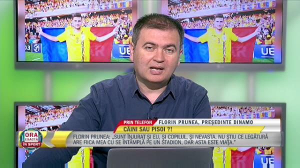 """Florin Prunea despre suporterii lui Dinamo """"Suporterii incurajeaza echipa, nu sunt de acord cu atitudinea de a intrat peste jucatori la antrenament"""""""