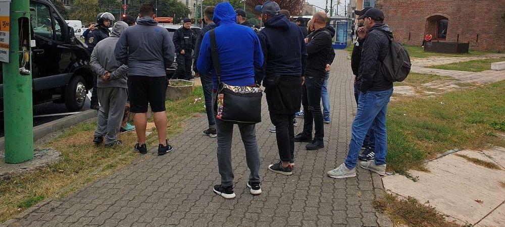 VIDEO   Bataie ca in filme! Scene incredibile de la confruntarea dintre fanii timisoreni si cei ai lui Dinamo! IMAGINI IREALE