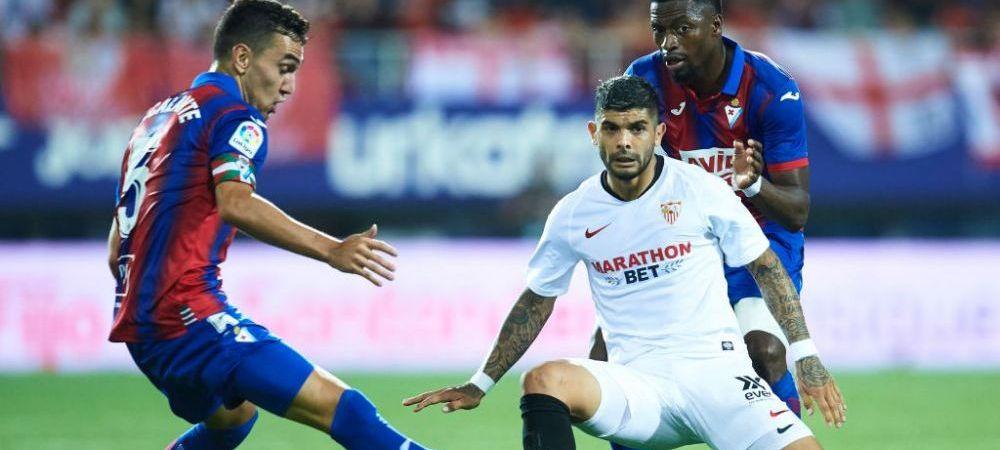 Pic si Poc, cei mai nefericiti din bloc! Doi jucatori de la Sevilla, faza ca la circ! Ce s-a intamplat dupa ce Sevilla a condus-o cu 2-0 pe Eibar, aseara