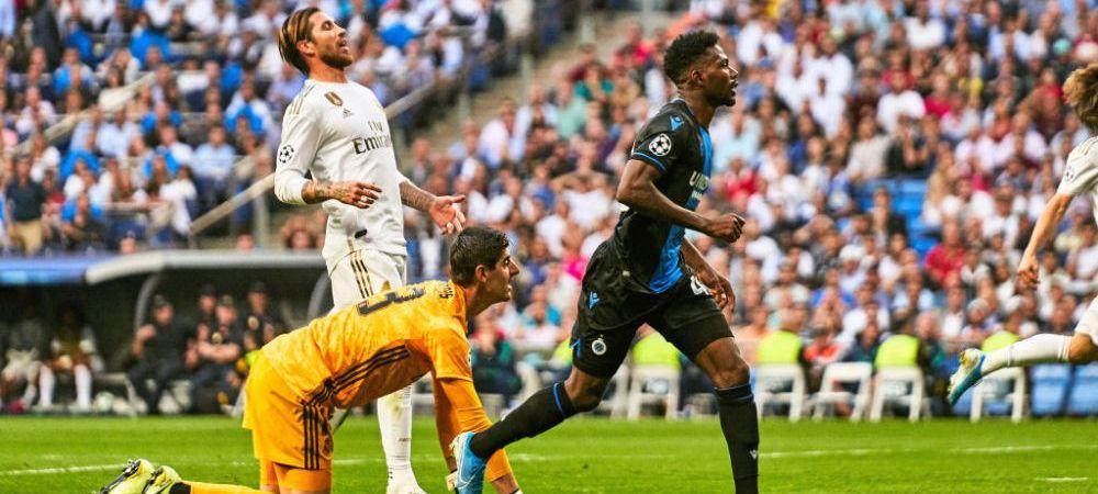 FABULOS! Zidane l-a scos pe Courtois din poarta dupa o repriza de cosmar pe Bernabeu! Ce a patit portarul Realului
