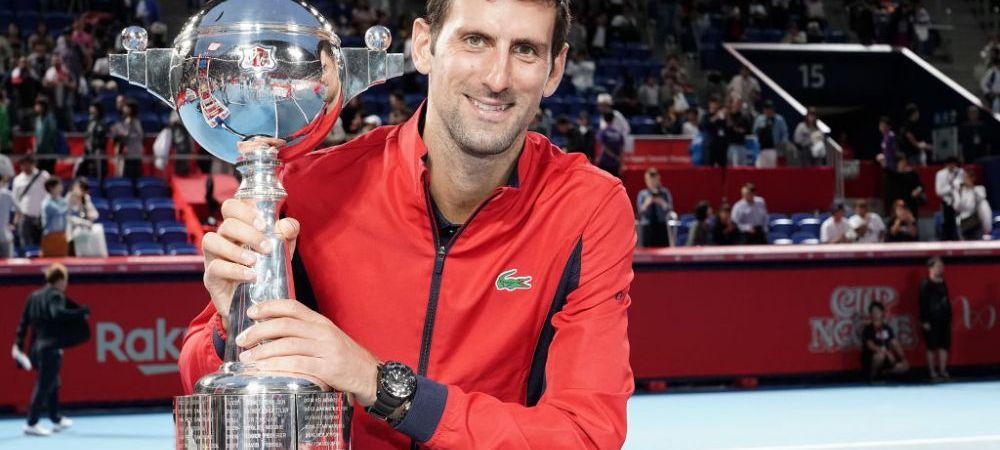 391.430$ pentru 393 de minute jucate! Djokovic a castigat turneul de la Tokyo si isi consilideaza numarul 1 ATP