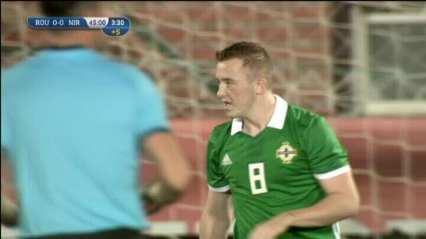 ROMANIA U21 - IRLANDA DE NORD U21: Lavery rateaza pe final de repriza