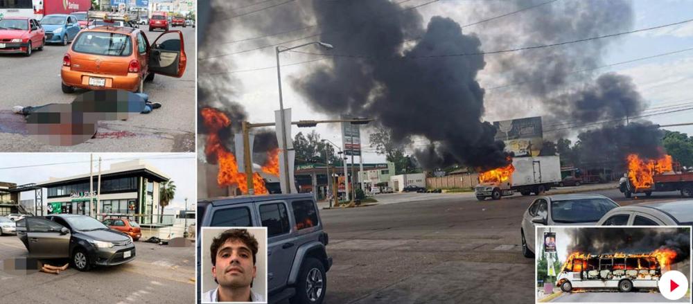 Atentie, detalii si imagini halucinante! Fiul lui El Chapo, arestat si ELIBERAT dupa ce politia a fost atacata de traficanti! S-au temut de un masacru