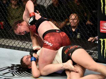 Diana Belbita, meci violent la debutul in UFC! Englezoaica McCann a invins-o pe romanca la Boston! VIDEO
