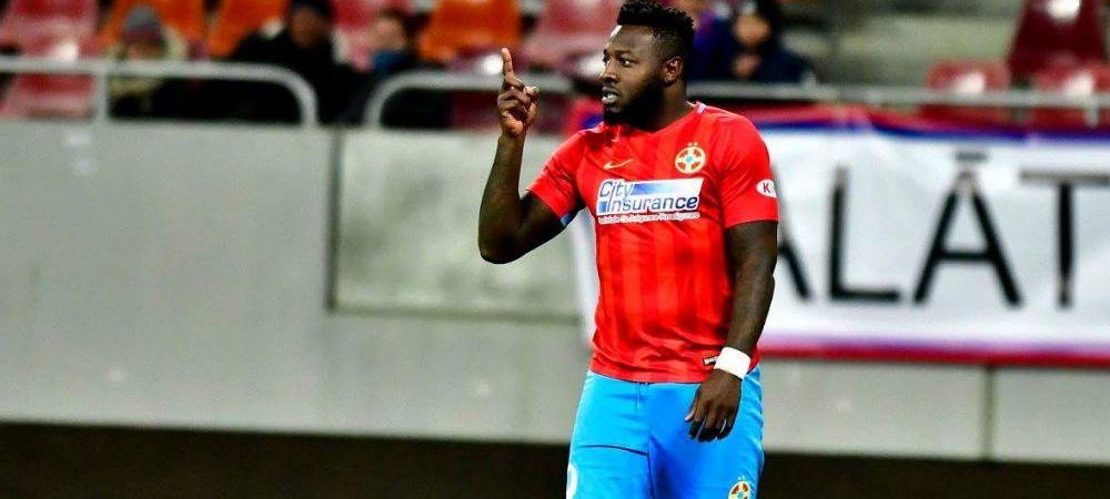 Gnohere, imprumutat la Chindia? Reactia FCSB dupa ce Moldovan s-a interesat de golgheterul francez