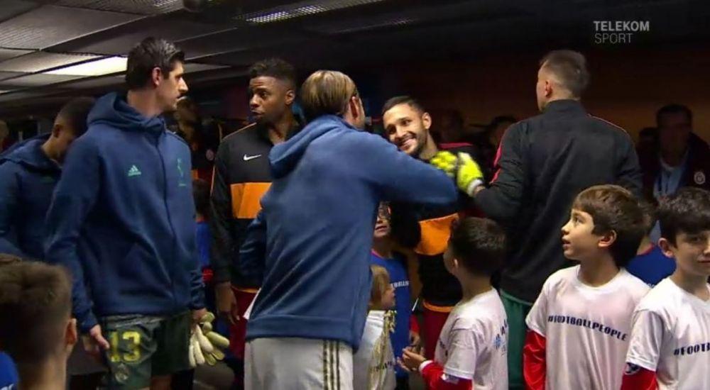 Reactie TOTAL NEASTEPTATA! Ce a facut Sergio Ramos cand l-a vazut pe Florin Andone pe culoar, inainte de Galatasaray - Real Madrid