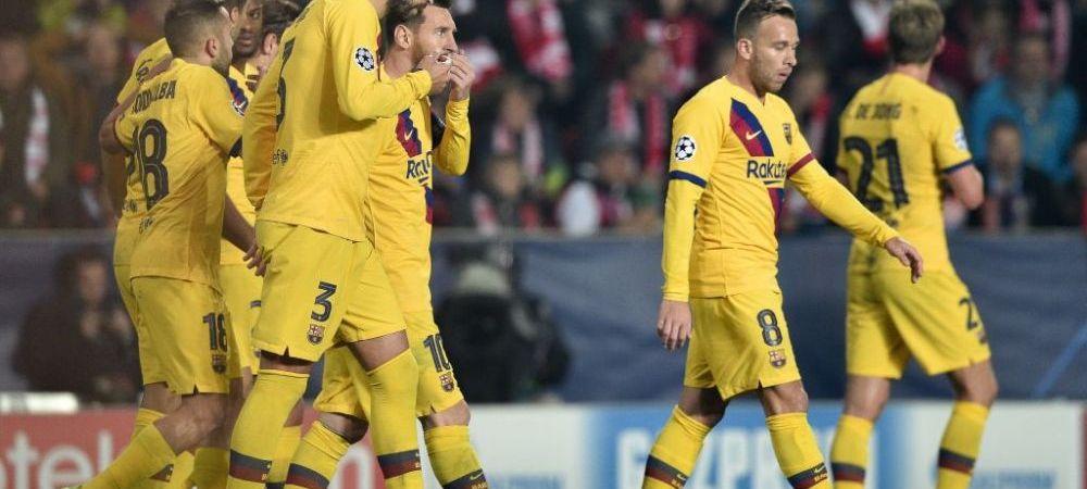 AU FACUT DEZASTRU! Nici in Liga 1 nu vezi asa ceva! Cum arata vestiarul Barcelonei dupa meciul cu Slavia din Champions League