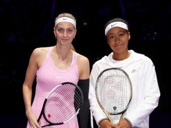 TURNEUL CAMPIOANELOR | Naomi Osaka, prima victorie in Grupa Rosie! A invins-o pe Kvitova sub privirile Simonei Halep