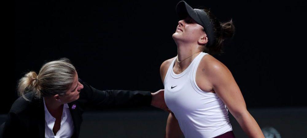 """Prima reactie a Biancai Andreescu dupa retragerea de la Turneul Campioanelor! """"Mi-a trosnit genunchiul! Ma doare ca naiba!"""""""