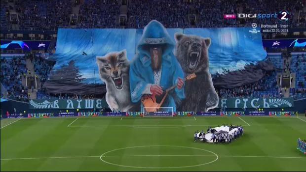 FOTO   Coregrafie SUPERBA a fanilor lui Zenit in meciul cu Leipzig