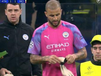 VIDEO   INCREDIBIL! Manchester City a ramas fara portar in meciul cu Atalanta! Fundasul Walker a intrat in poarta