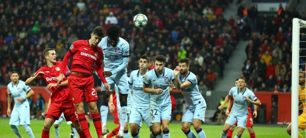 """DE TOT RASUL! Premiul pentru cel mai """"penibil"""" autogol merge la Atletico Madrid! Echipa lui Simeone a fost invinsa de Leverkusen"""
