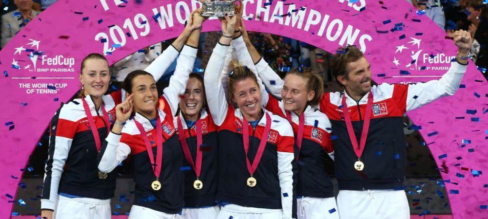 Franta, campioana in Fed Cup! A invins echipa liderului mondial la ea acasa | VIDEO