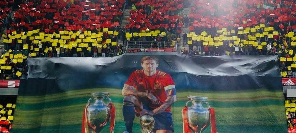BANDEROLA DE AUR! Sergio Ramos a fost premiat pentru cele mai multe aparitii la nationala Spaniei