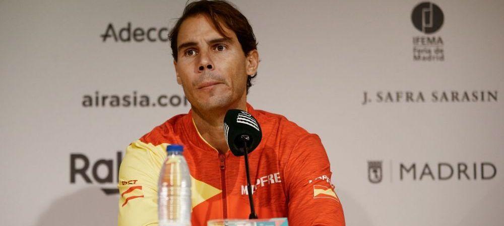 """SCANDAL la Cupa Davis! Nadal a rabufnit, nemultumit de noul format: """"Nu e bine deloc ce se intampla aici!"""""""