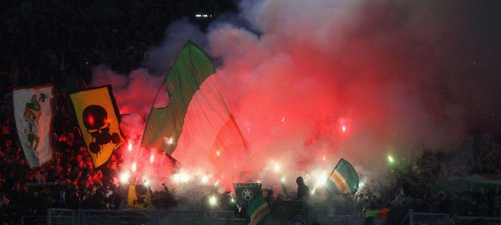 UEFA a sanctionat doua echipe din grupa CFR-ului! Suporterii celor doua cluburi au avut scandari si bannere interzise la meciurile din Europa League