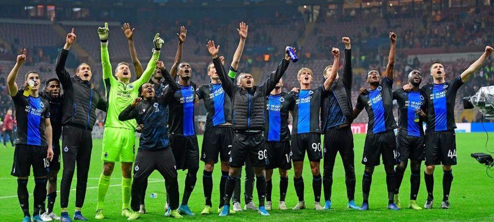 Moment INEDIT in Champions League! Doi jucatori de la Brugge eliminati la aceeasi faza! Motivul INCREDIBIL pentru care au vazut cartonasul rosu