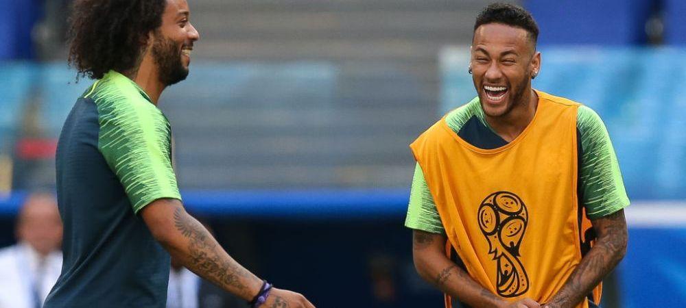 """Spaniolii au aflat totul: camerele TV au surprins momentul! Ce au discutat Marcelo si Neymar inainte de Real-PSG: """"Esti mai bun decat el!"""""""