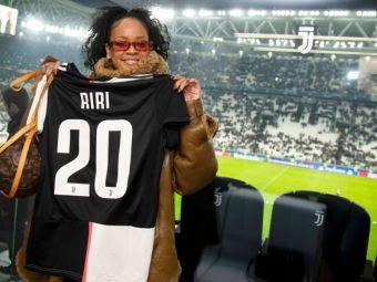 Rihanna a fost la Torino sa il vada pe Ronaldo! Accesoriul INEDIT cu care cantareata a venit la stadion