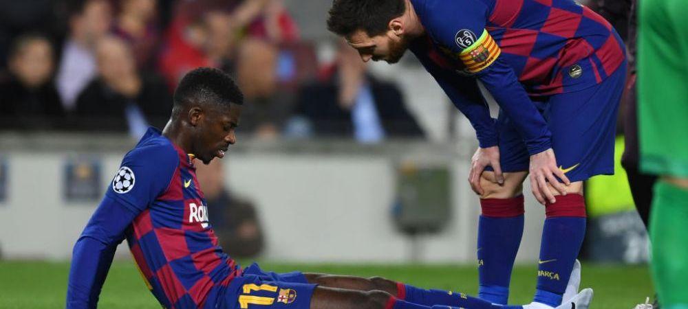 """""""Sa vorbeasca cu doctorii, sa faca ceva!"""" Luis Suarez, dupa INCA o accidentare a lui Dembele in meciul cu Dortmund"""