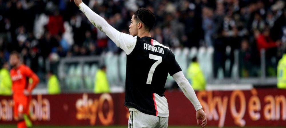MONSTRUOS! Cristiano Ronaldo o duce pe Juventus pe primul loc in Serie A! Portughezul a inscris o dubla DE SENZATIE si a doborat un nou record