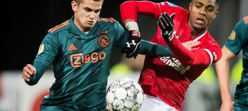 "Razvan Marin a REDEVENIT titular la Ajax dupa 4 luni! Echipa a luat gol imediat dupa ce romanul a fost schimbat. Record negativ pentru ""lancieri"""