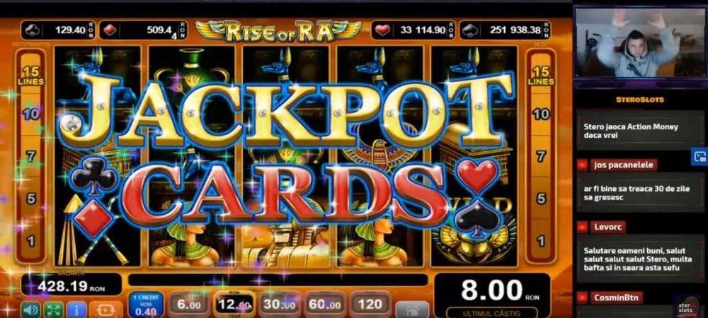 (P) Cel mai mare castig la cazino online surprins live de catre un jucator roman