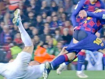 I-a dat PANTALONII JOS lui Messi! Momentul NEVAZUT de la El Clasico! Superstarul Barcelonei era sa ramana in fundul gol pe teren