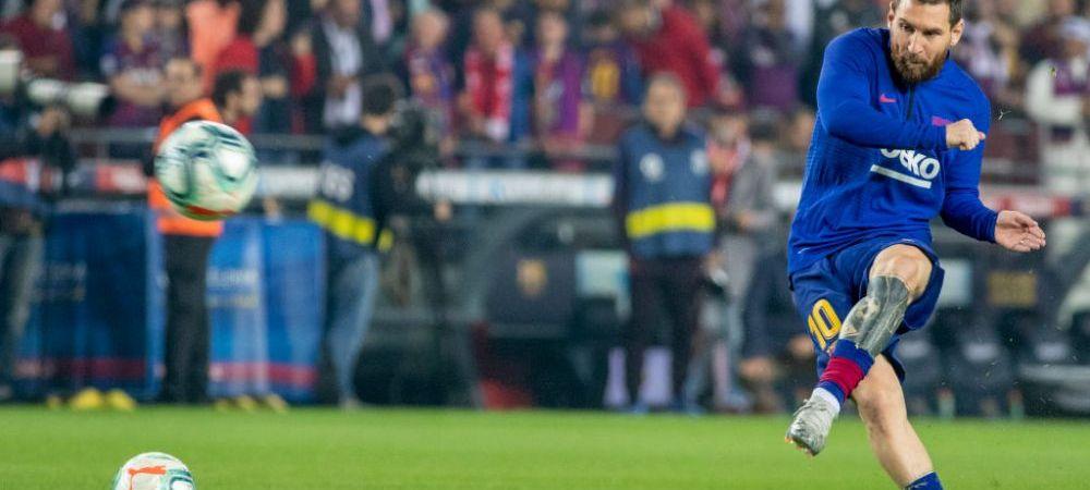 Messi se antreneaza uitandu-se la...Messi! Ipostaza SENZATIONALA in care a fost surprins starul argentinian