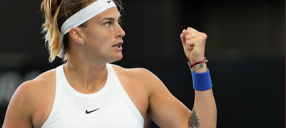 Simona Halep, ELIMINATA IN SFERTURI la Adelaide de Aryna Sabalenka   Numar 3 WTA incepand de luni, Simona a castigat doar sase game-uri