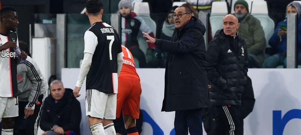 """""""Ma irita ca alt jucator are mai multe Baloane de Aur decat Cristiano!"""" Sarri il AJUTA pe Ronaldo in razboiul cu Messi. Ce obiectiv a pus echipei sale"""