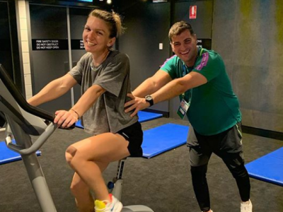 VIDEO: Simona Halep s-a antrenat impreuna cu iubitul ei la Melbourne | Ce videoclip special i-au pregatit australienii