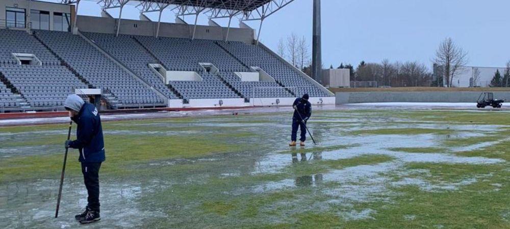 Se muta barajul Islanda - Romania? Cu 2 luni inaintea meciului, gazonul de la Reyjkavik arata GROAZNIC