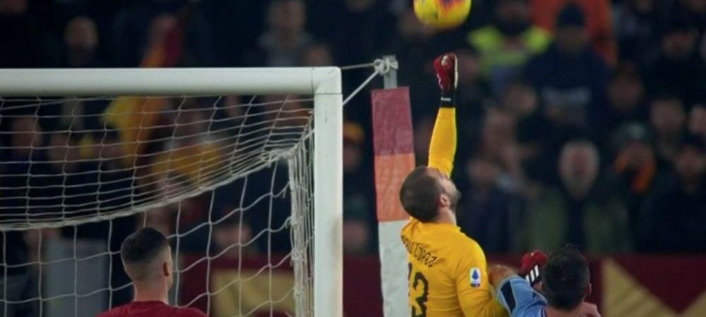 NU, NICI MACAR KARIUS n-a facut asa ceva!!! Eroare COLOSALA de portar in Roma - Lazio! Ce a putut sa faca Pau Lopez la gol