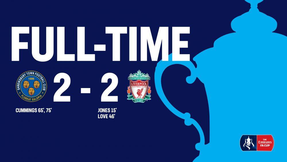 NEBUNIEEEE! Au inceput sa URLE de bucurie in fata camerei dupa MECIUL VIETII! Liverpool, EGALATA in 10 minute de la 2-0 de o echipa din Liga a 3-a! VIDEO