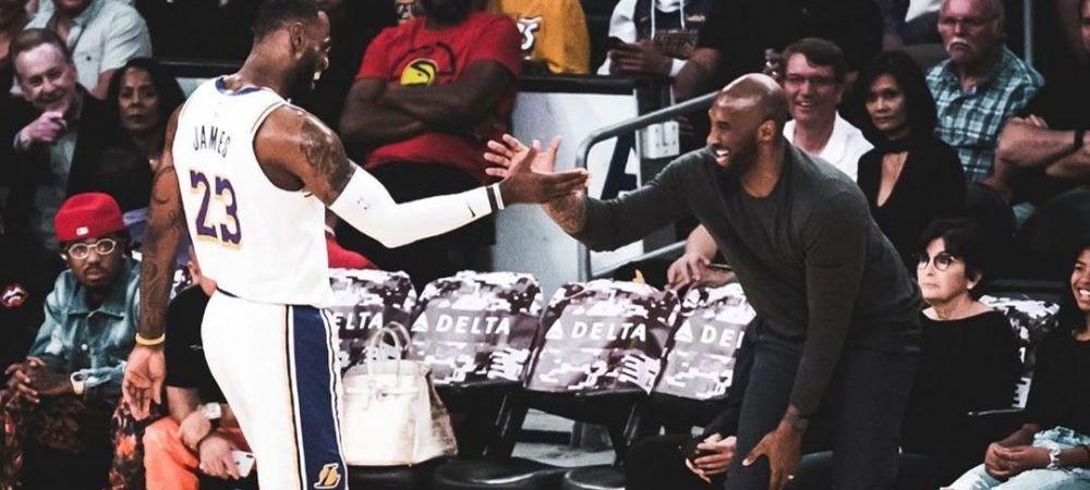 "Reactia care a intarziat sa vina! LeBron James, mesaj SFASIETOR dupa moartea lui Kobe Bryant: ""Nu sunt pregatit, dar voi incepe, frate"""
