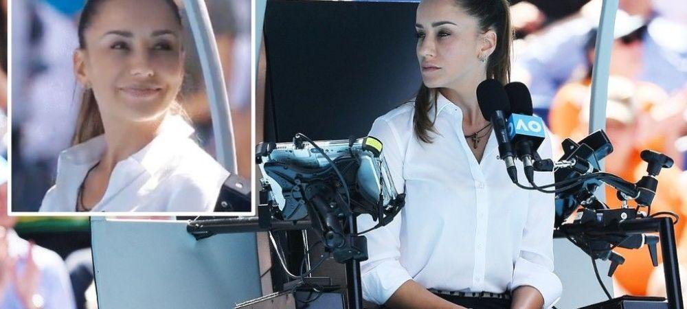 SEXY: Ea este arbitra de scaun care l-a redus la tacere pe Roger Federer si a atras toate privirile spectatorilor