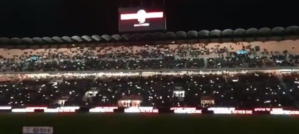 RESPECT TOTAL! AC Milan i-a dedicat un moment superb lui Kobe Bryant, mare fan al echipei, la meciul din Cupa! Imaginile i-au impresionat pana la lacrimi pe fani