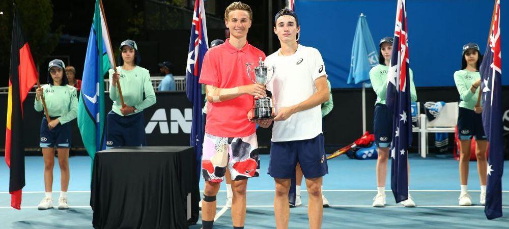 """""""E bun si trofeul asta"""" Nicholas David Ionel, declaratie hazlie dupa ce a devenit campion de Grand Slam la dublu juniori"""