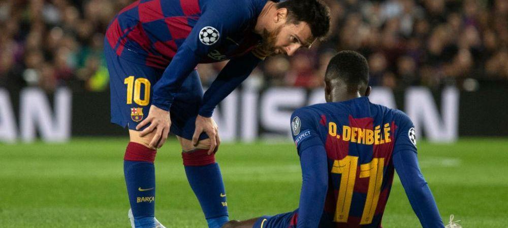 Gluma SECOLULUI   Cum l-au ironizat fanii Barcelonei pe Dembele dupa ce atacantul a suferit a 10-a accidentare! FOTO