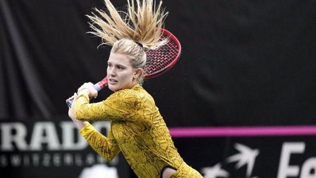 SEXY | Eugenie Bouchard I-A INNEBUNIT pe toti fanii iesind cu acest costum pe teren