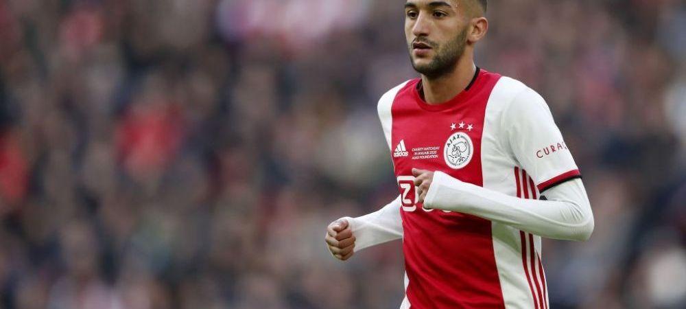 E OFICIAL! Hakim Ziyech pleaca de la Ajax cu destinatia Premier League! Clubul a facut anuntul