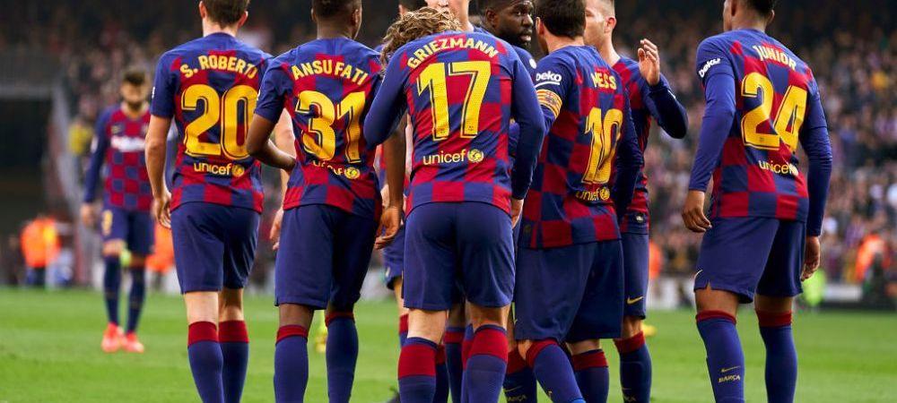 Gest superb facut de jucatorii Barcelonei pentru Dembele! Cum au aparut catalanii pe teren la meciul cu Getafe