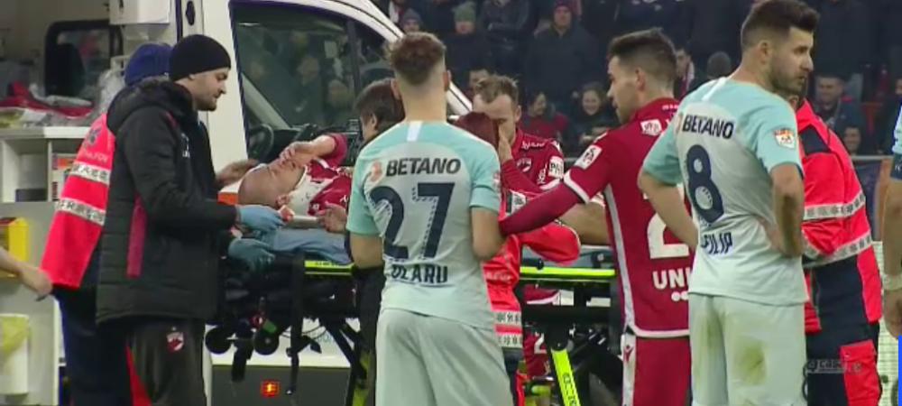 Care este situatia lui Perovic dupa ce a speriat un stadion intreg! Fotbalistul lui Dinamo a fost facut K.O de Cristea