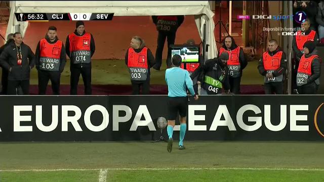 CFR Cluj a primit penalty cu ajutorul VAR-ului in meciul cu Sevilla! Ce s-a intamplat