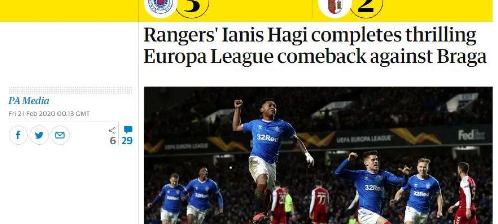 Presa britanica il lauda pe Ianis Hagi dupa prestatia de zile mari reusita in Europa League! Ce scriu BBC si The Guardian despre seara magica
