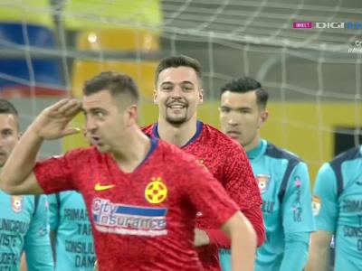 GOOOL MIRON! DISTRUGATORUL moldovean marcheaza la debutul in tricoul FCSB! Ce gest a facut imediat dupa gol