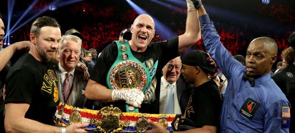 VICTORIE URIASA a lui Tyson Fury in fata lui Deontay Wilder! Britanicul este noul CAMPION MONDIAL la categoria grea