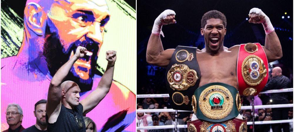SE INTAMPLA! Cel mai TARE MECI AL GREILOR, DUELUL CAMPIONILOR: Tyson Fury vs Anthony Joshua! Cand ar putea avea loc meciul