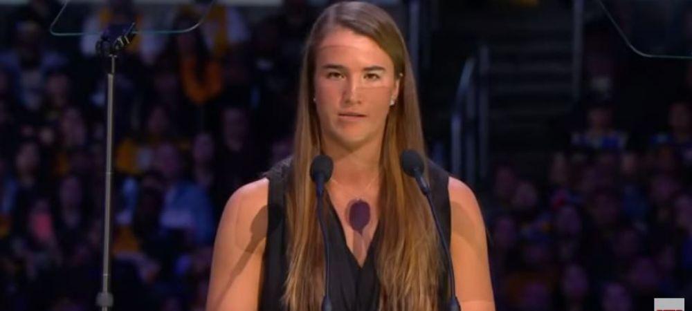 "In memoriam Kobe Bryant | Sabrina Ionescu, discurs emotionant la ceremonia dedicata mareului star NBA: ""Inca ii mai dau mesaje lui Kobe..."""